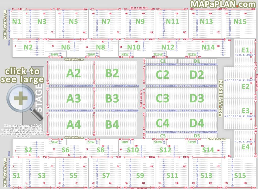 wembley-arena-london-seating-plan-01-Detailed-seat-numbers-chart - printable classroom seating chart