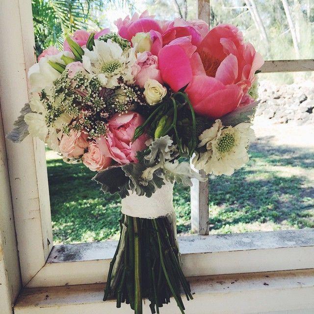 A pretty summer bouquet for our #hawaiibride www.blissinbloom.com --- #Bouquet #Wedding #Hawaii #Bride #Florals #HawaiiWedding #BlissInBloom