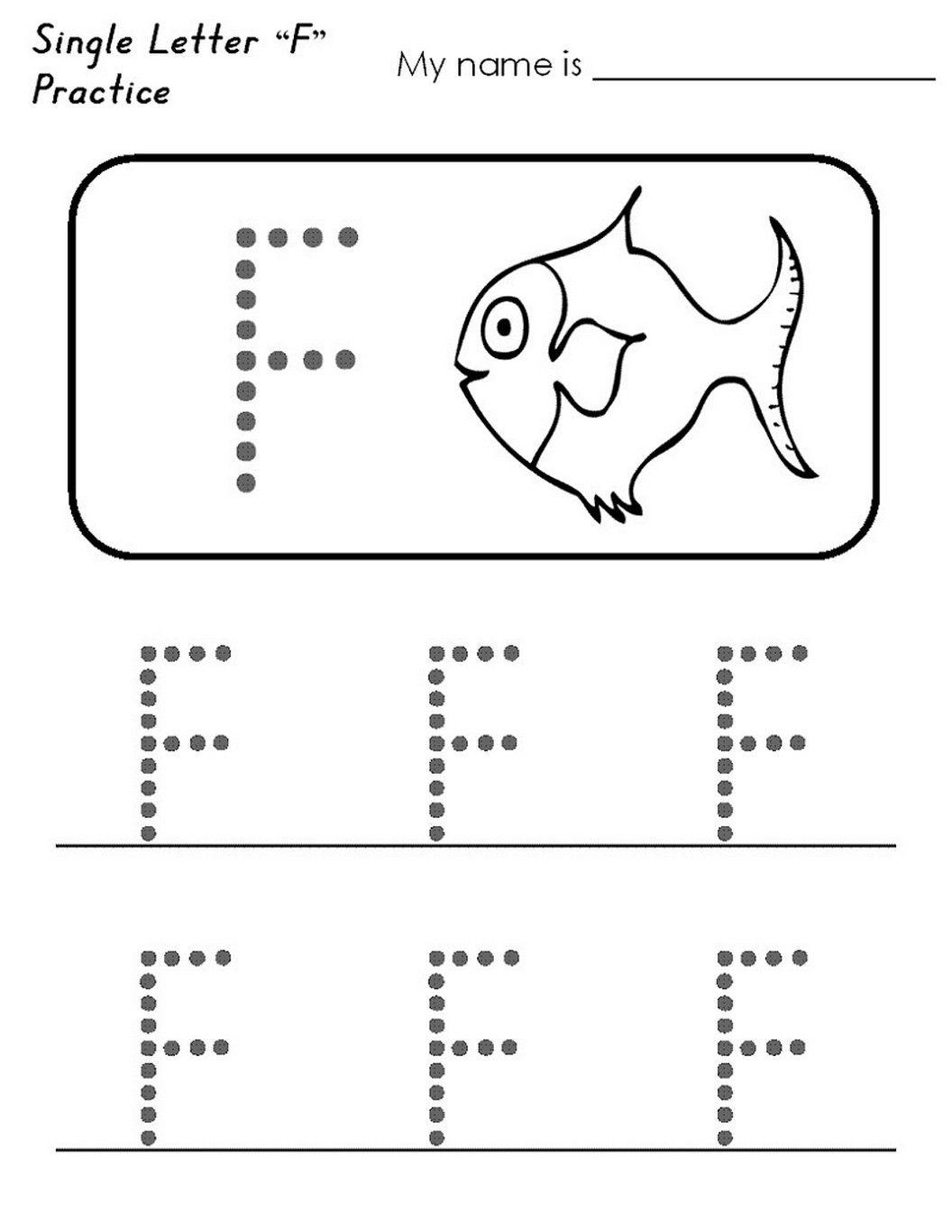 Letter F Worksheet Activities