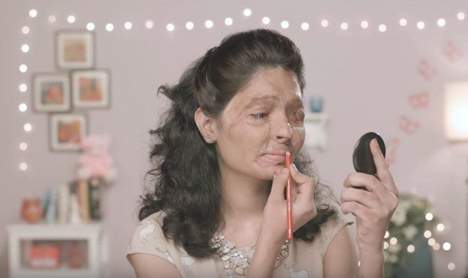 With Red Lipstick, Indian Acid Attack Victim Makes a Bold Statement - victim statement