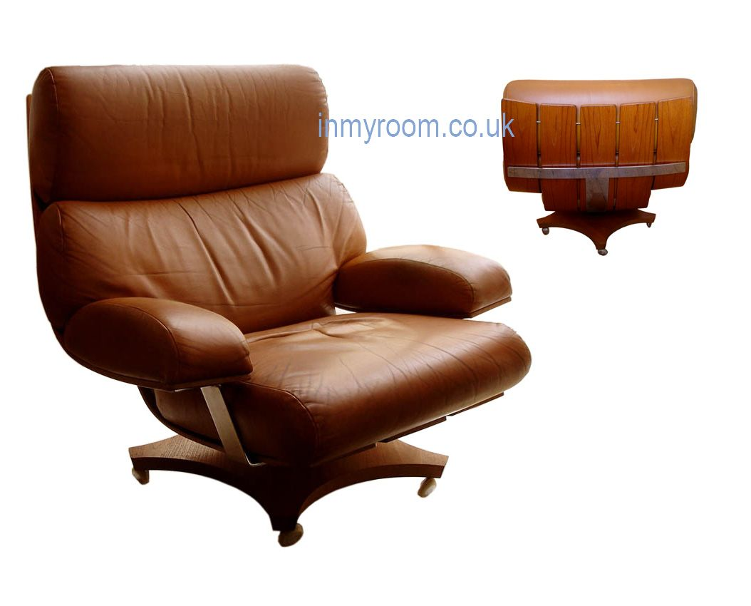 Rare Vintage Leather Housemaster Chair By Kofod Larsen For G Plan 1970s Eames Lounge Chair Eames Lounge