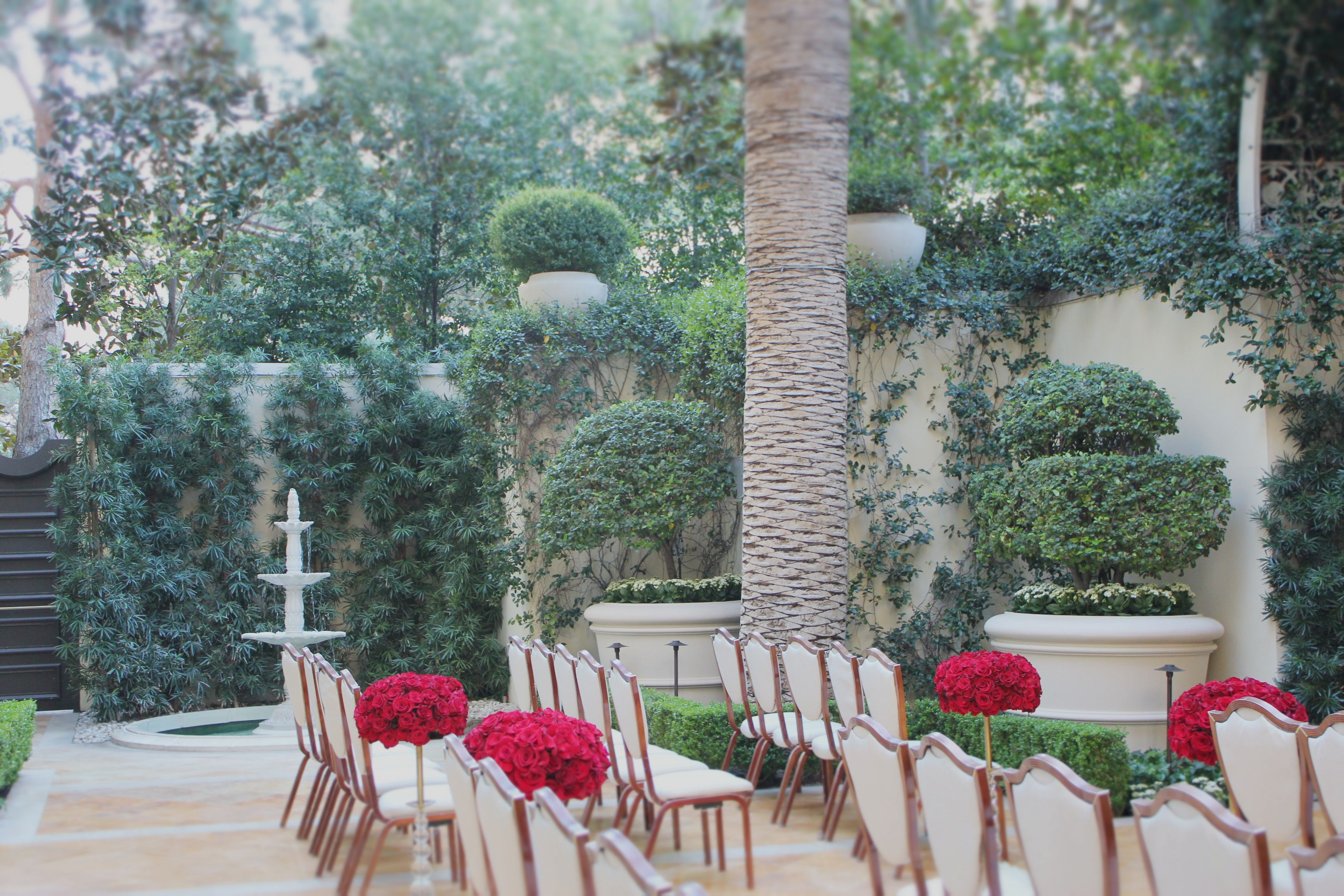 Primrose Courtyard in the wedding salons at The Wynn is a hidden gem! We love playing here! This venue is perfect for an intimate outdoor…
