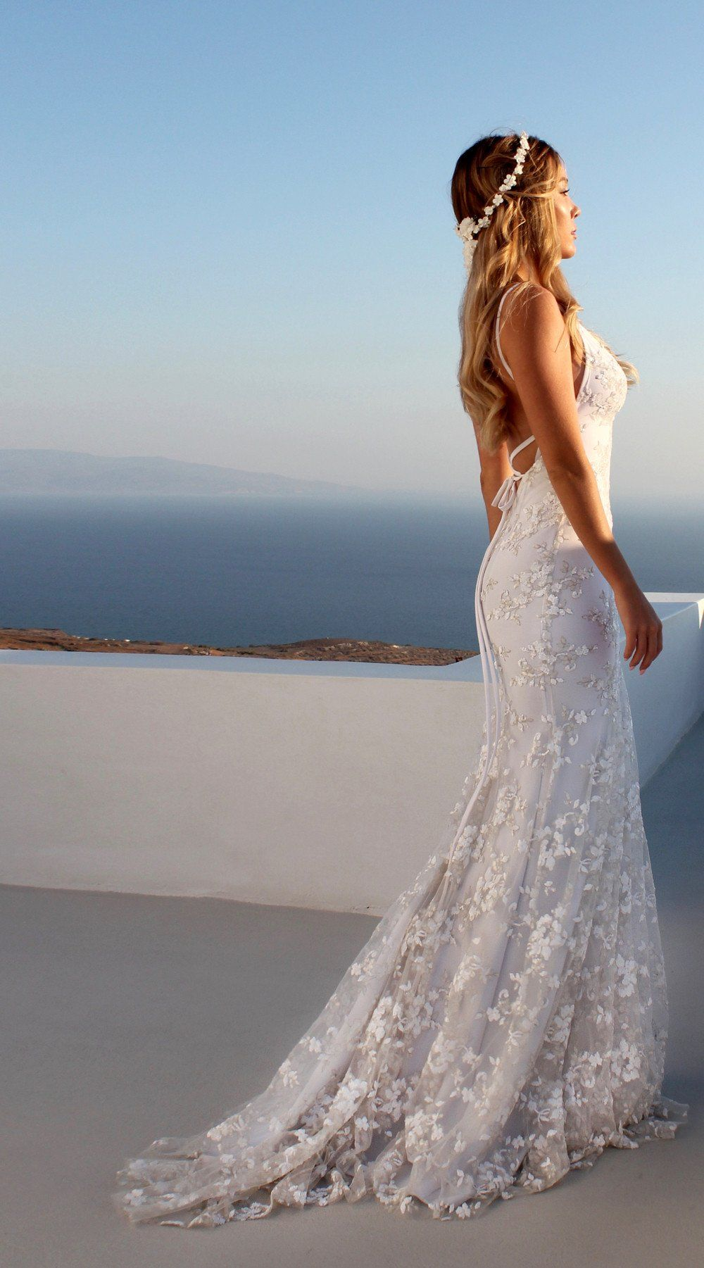 WHITE JADORE Mermaid beach wedding dresses, Prom dresses