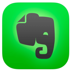Apps for Organization Evernote, Mac app store, Kindle