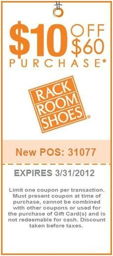 10 Off At Rack Room Shoes Shoes Coupon Printable Coupons Free Printable Coupons
