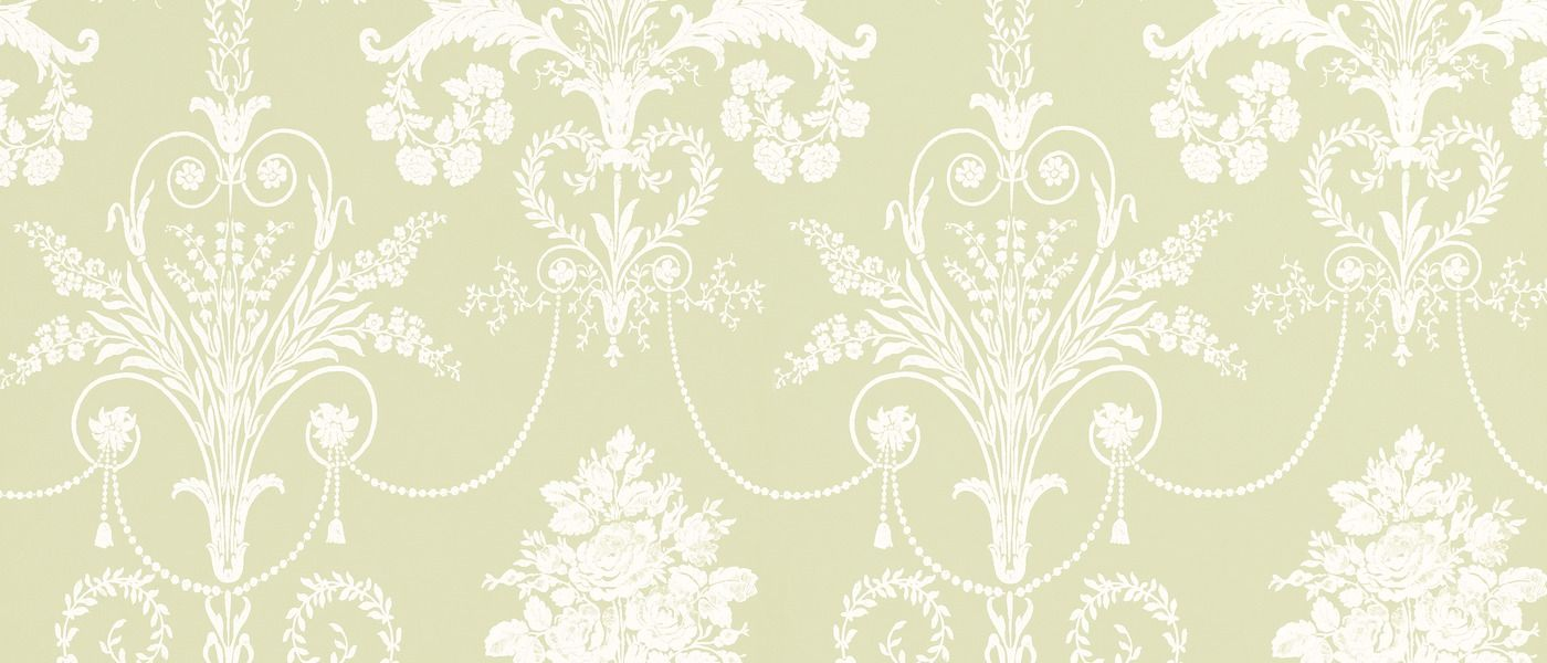 Josette Apple Green Wallpaper at Laura Ashley