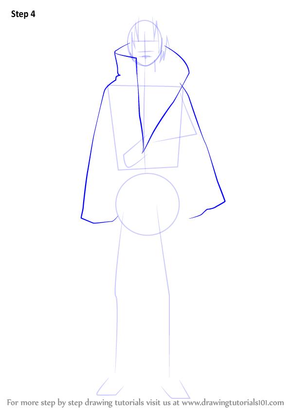 Learn How To Draw Itachi Uchiha From Naruto Naruto Step By Step Drawing Tutorials Itachi Itachi Uchiha Naruto Drawings