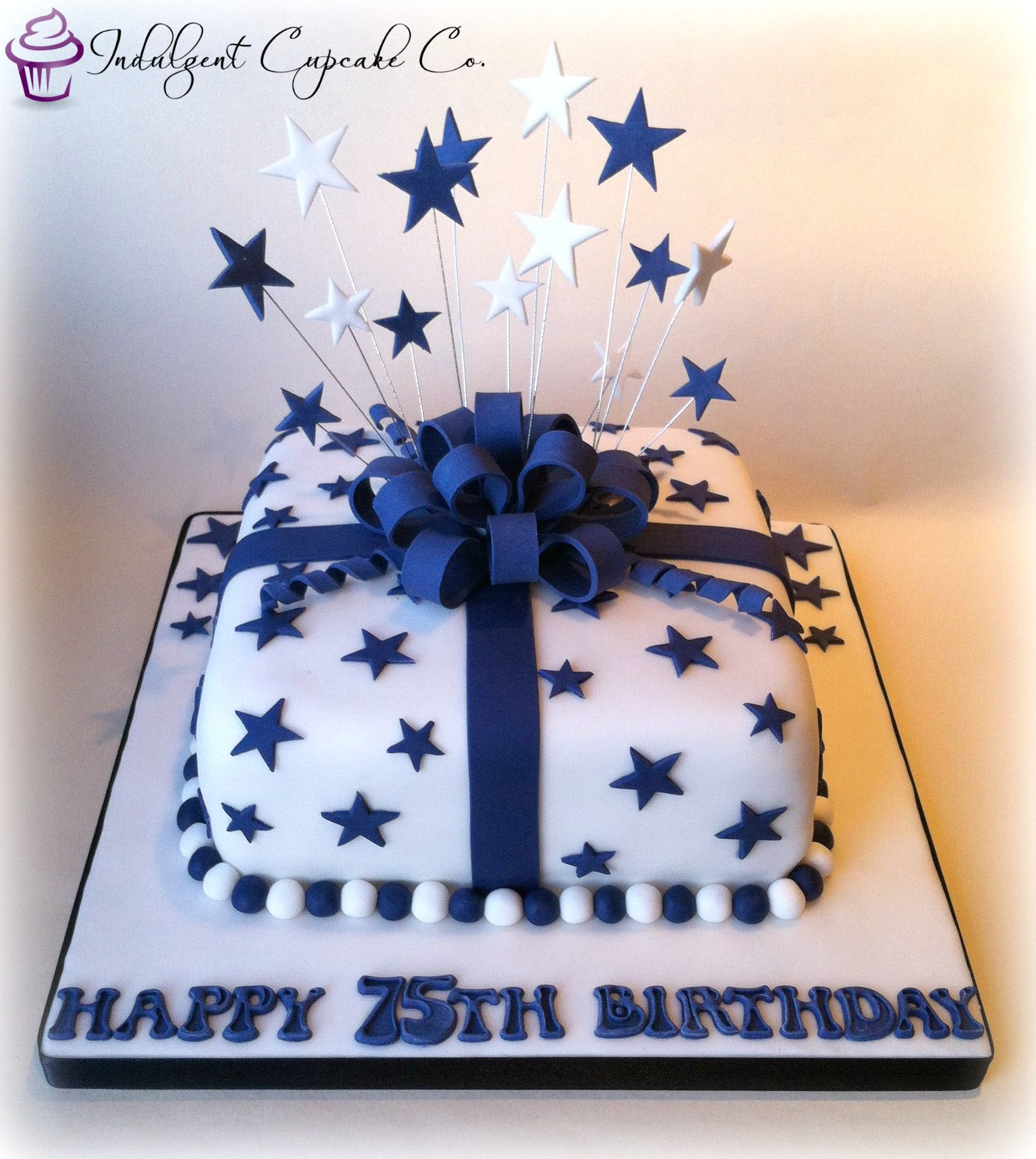 75th parcel birthday cake Taart Pinterest Birthday