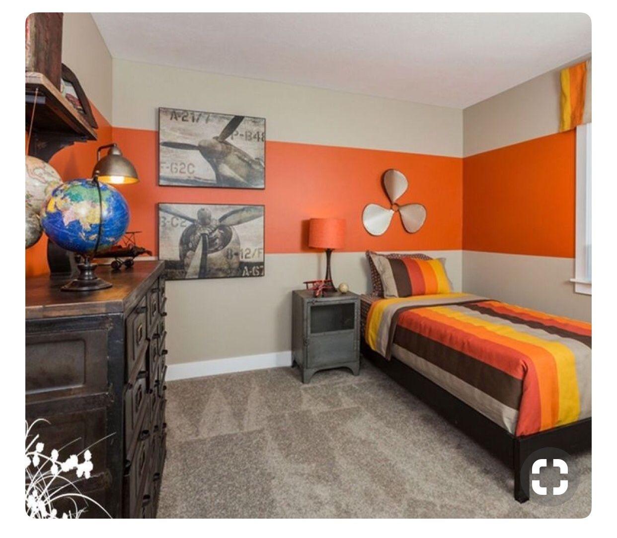 Dormitorios juveniles en naranja y gris | Home | Pinterest ...