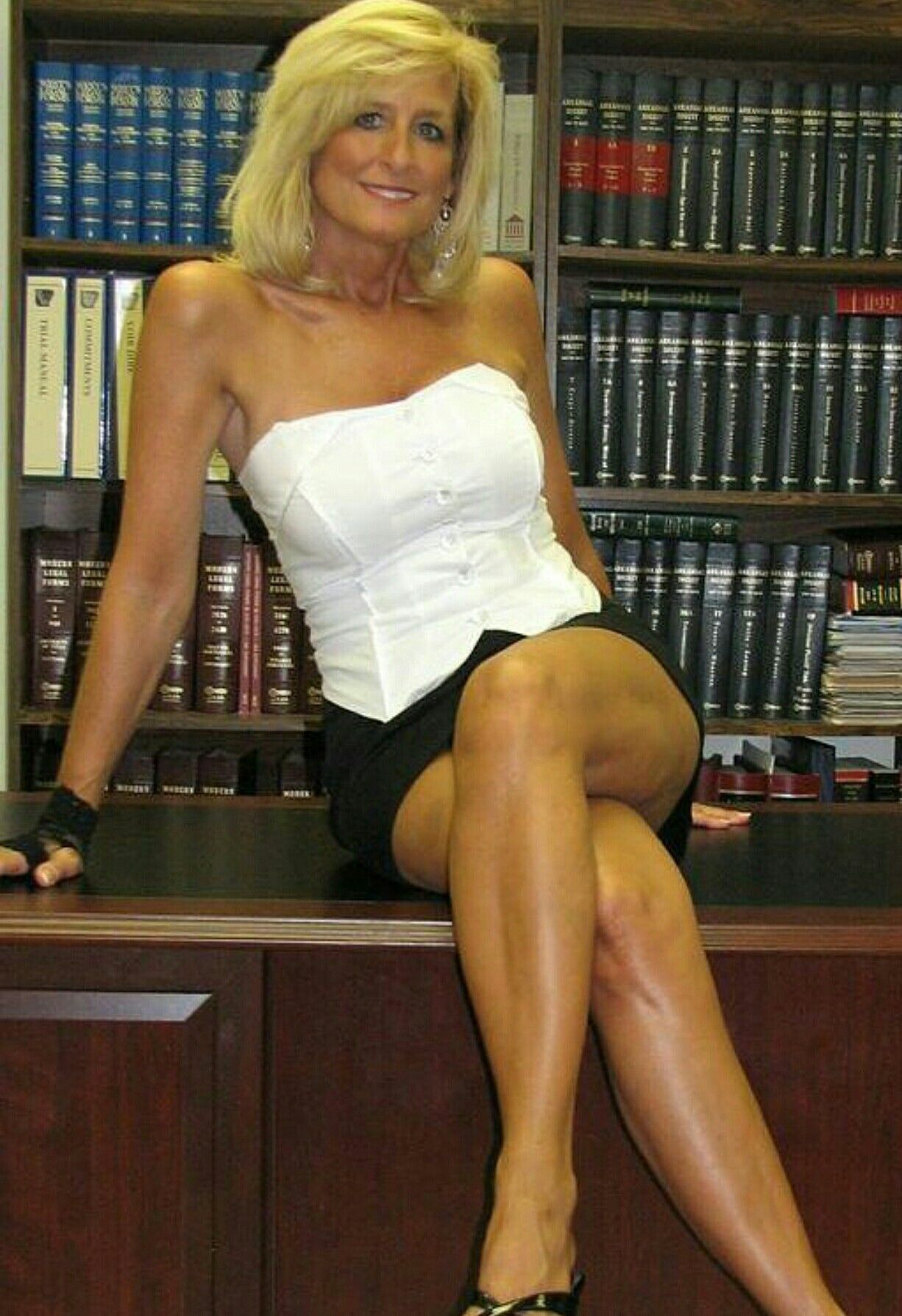 Old mature teacher