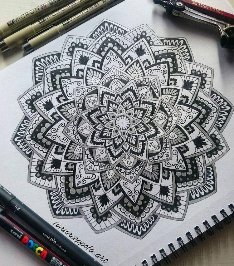 40 Beautiful Mandala Drawing Ideas Inspiration Brighter Craft Mandala Kunstunterricht Mandala Selber Malen Mandala Malen Anleitung