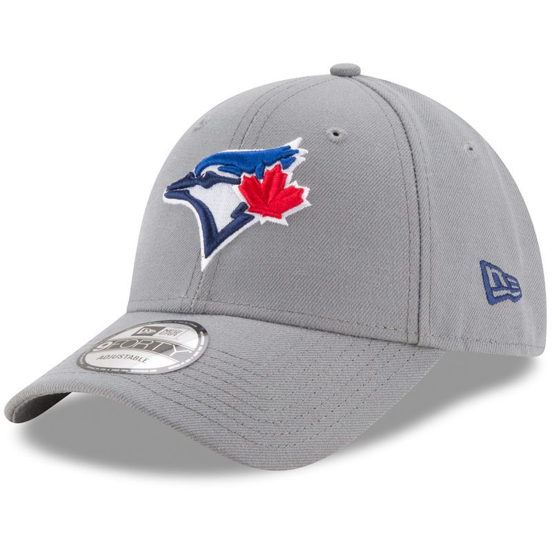 Toronto Blue Jays New Era The League Storm 9FORTY Adjustable Hat - Gray 4eb2798769b2