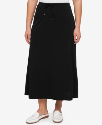TOMMY HILFIGER Tommy Hilfiger Plus Size Drawstring Maxi Skirt. #tommyhilfiger #cloth # skirts