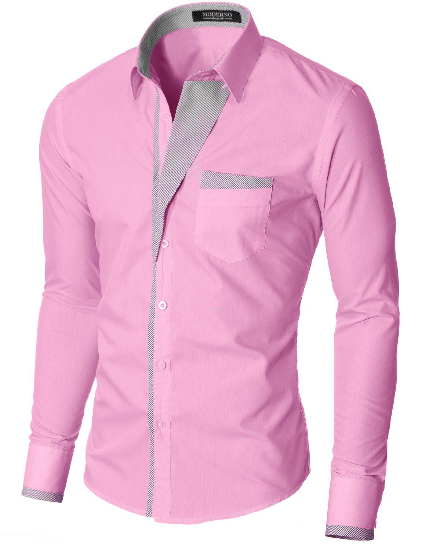 Moderno Mens Slim Fit Button Down Shirt Vgds41ls Pink Men Fashion Casual Shirts Formal Men Outfit Shirts [ 1500 x 1150 Pixel ]
