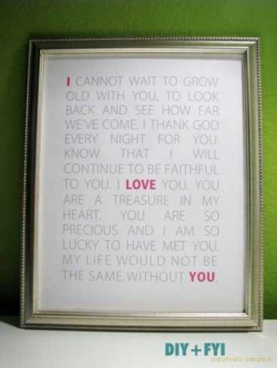 diy love letters subway art Future husband, Poem and Subway art - love letter to my husband