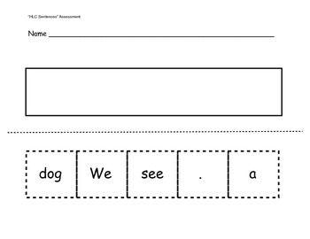 kindergarten sentence structure assessment kinder kindergarten kindergarten handwriting. Black Bedroom Furniture Sets. Home Design Ideas