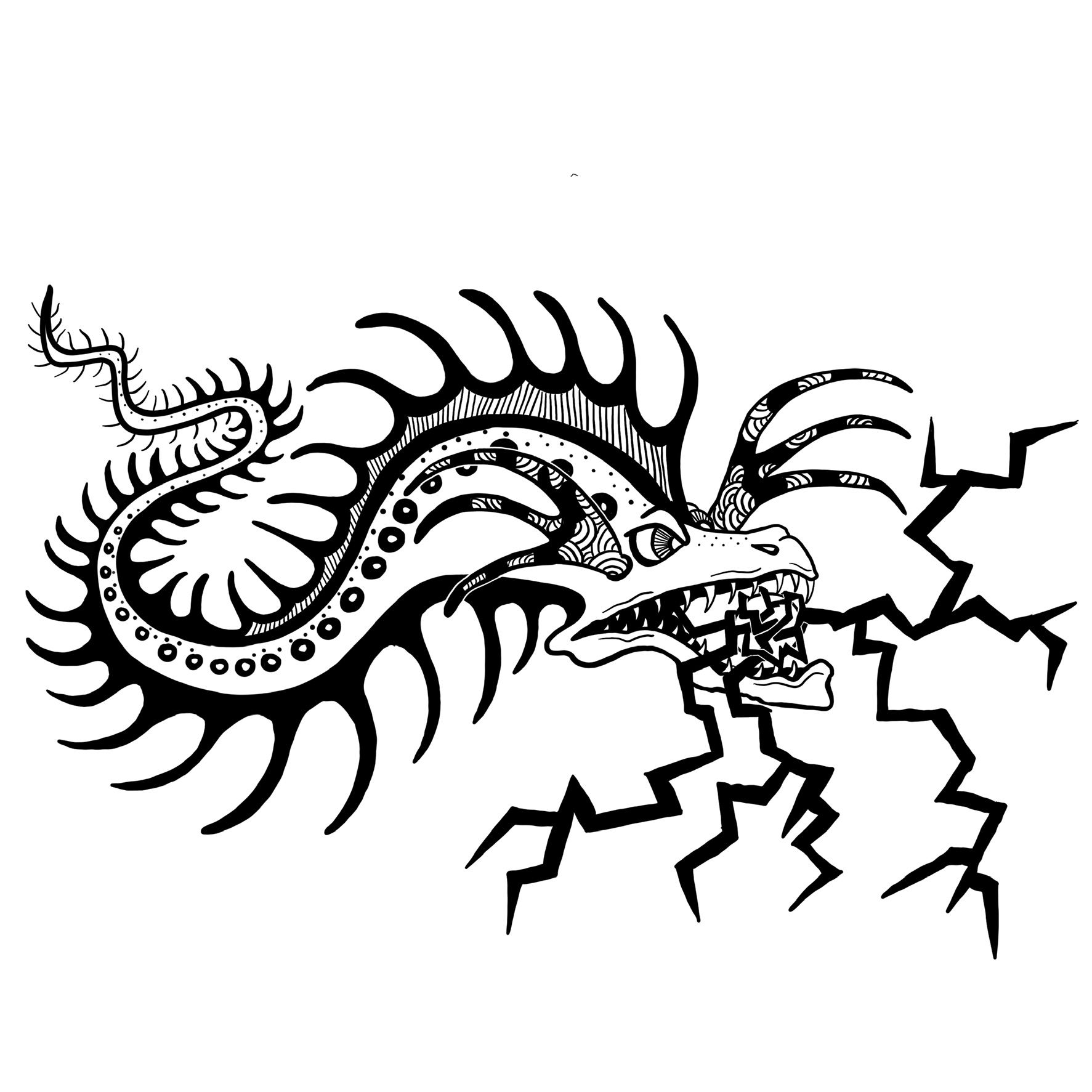 Spikey Hair Eel Coloring Page Color Luna Coloring Pages