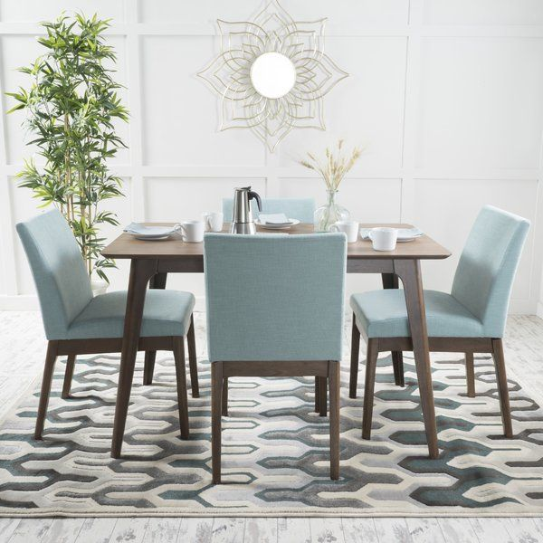 Tunis 5 Piece Dining Set Mid century style, Color pallets and