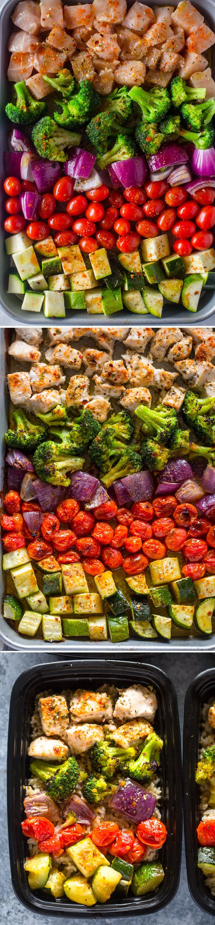 Meal Prep - Healthy Roasted Chicken and Veggies #mealprepplans
