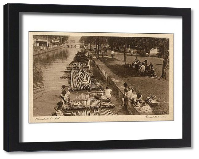 Framed Print-Indonesia - Java - Jakarta - Molenvliet Canal-22