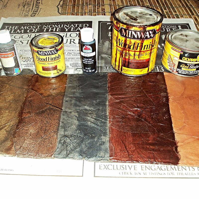 Refinish Frames How To Create A Faux Leather Finish Using Brown Paper Clear Coat Afterwards