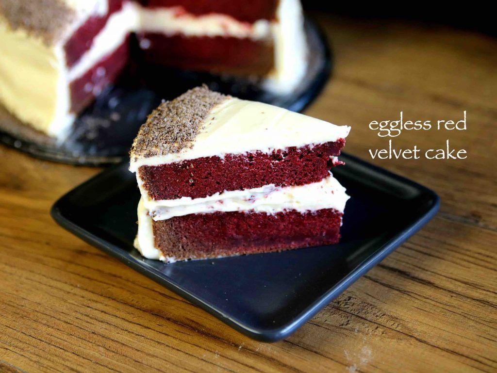 Red Velvet Cake Recipe Easy Moist Eggless Velvet Cake Recipe Recipe In 2020 Red Velvet Cake Recipe Velvet Cake Recipes Eggless Cake Recipe