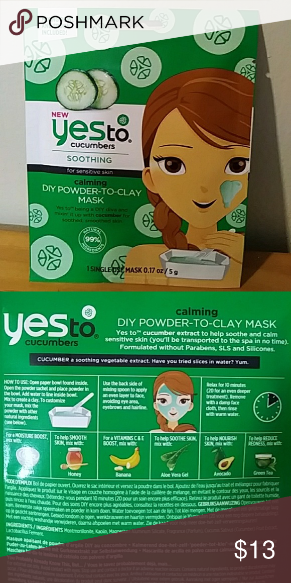 Yes To Cucumbers Powder-to-Clay Mask LOT OF 8 You will be