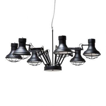 grey tones stijl studio hanglamp spider eijerkamp trendhopper wooninspiratie verlichting interieur