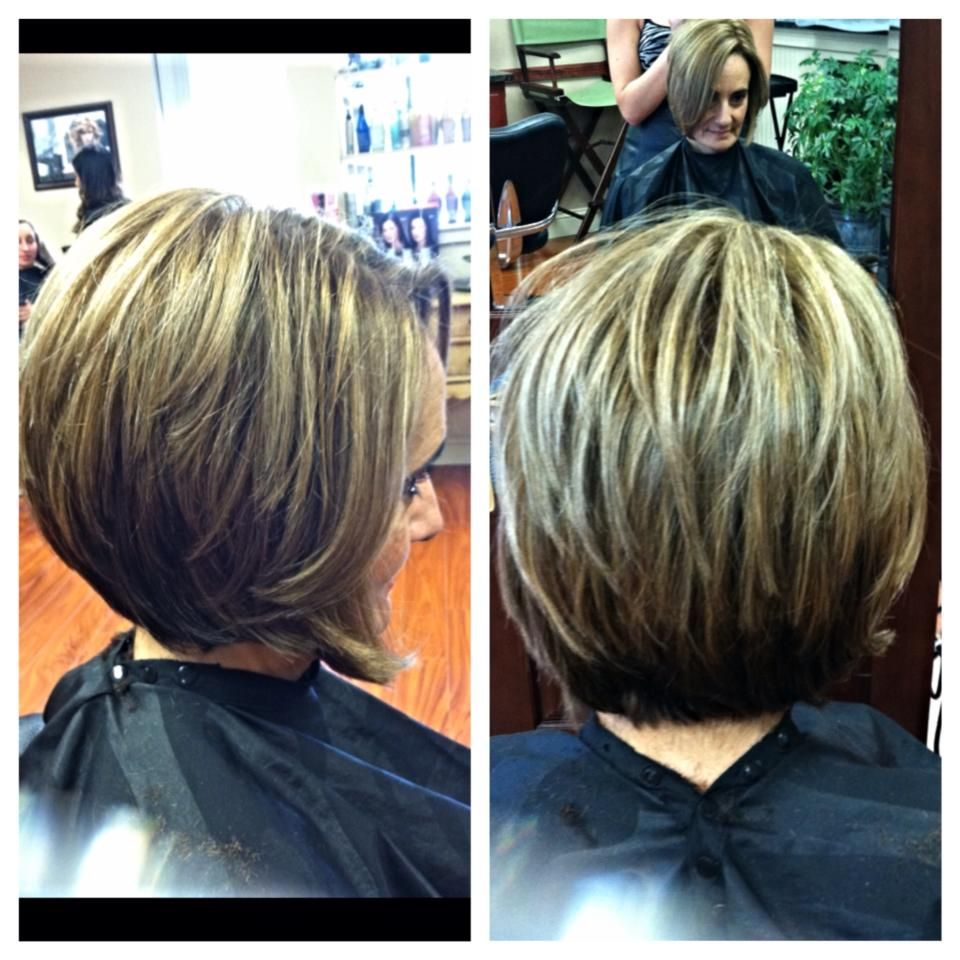 Sassy Low Maintenance Stacked Bob I Love The Contrast In Colors Hair Studio Hair Hacks Stacked Bobs