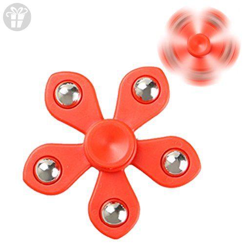 Dukesong Fidget Sunflower Five Leaves Flower Finger Spinner Hand Focus EDC Toy - Fidget spinner (*Amazon Partner-Link)