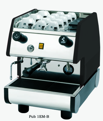 La Pavoni PUB 1EM Espresso Machine - 1 group, Pour-over, Black or Red