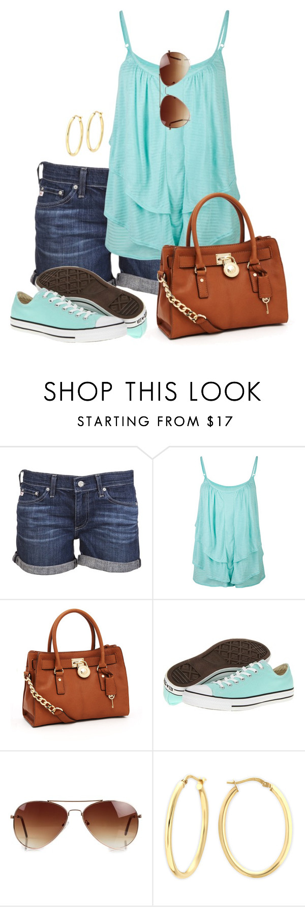 """""""Spaghetti Straps"""" by wishlist123 ❤ liked on Polyvore featuring AG Adriano Goldschmied, Full Tilt, MICHAEL Michael Kors, Converse, Rut&Circle, women's clothing, women's fashion, women, female and woman"""