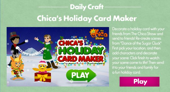 SproutMerryThon is here! Check out Chica\u0027s Holiday Card Maker AND