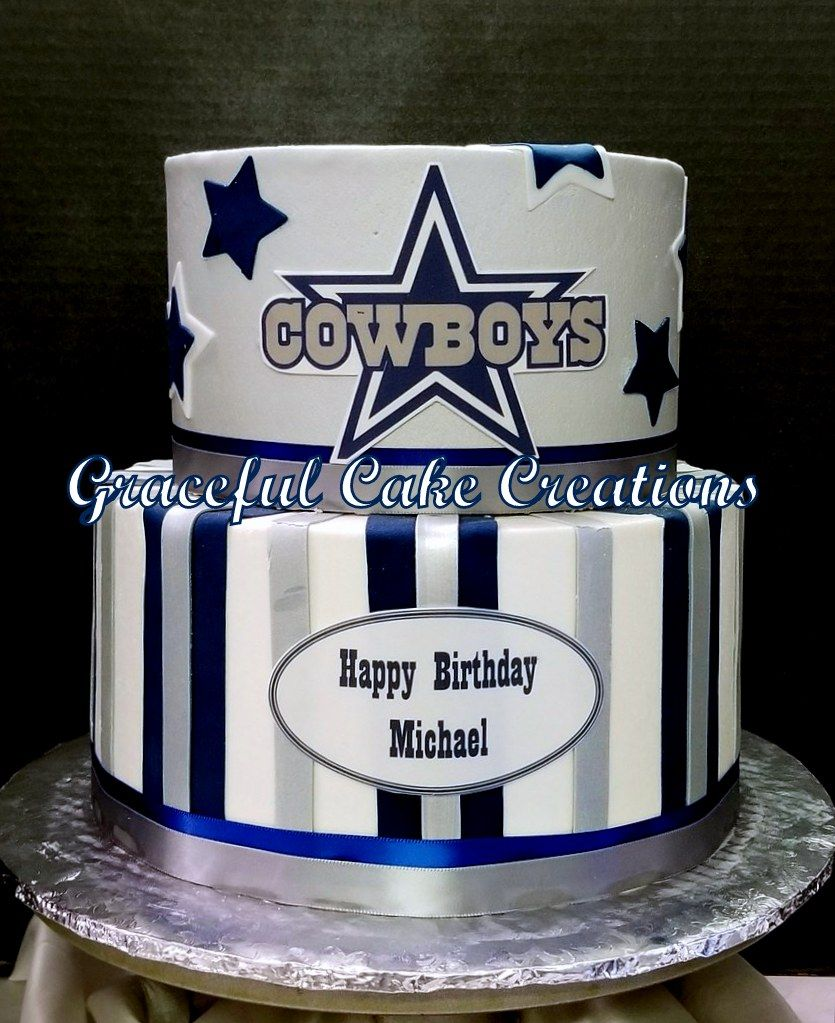 Super Dallas Cowboys Birthday Cake With Images Dallas Cowboys Personalised Birthday Cards Paralily Jamesorg