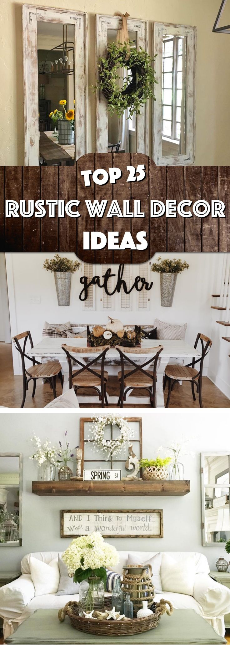25 Must Try Rustic Wall Decor Ideas Featuring The Most Amazing Intended Imperfections Cute Diy Projects Easy Home Decor Farm House Living Room Home