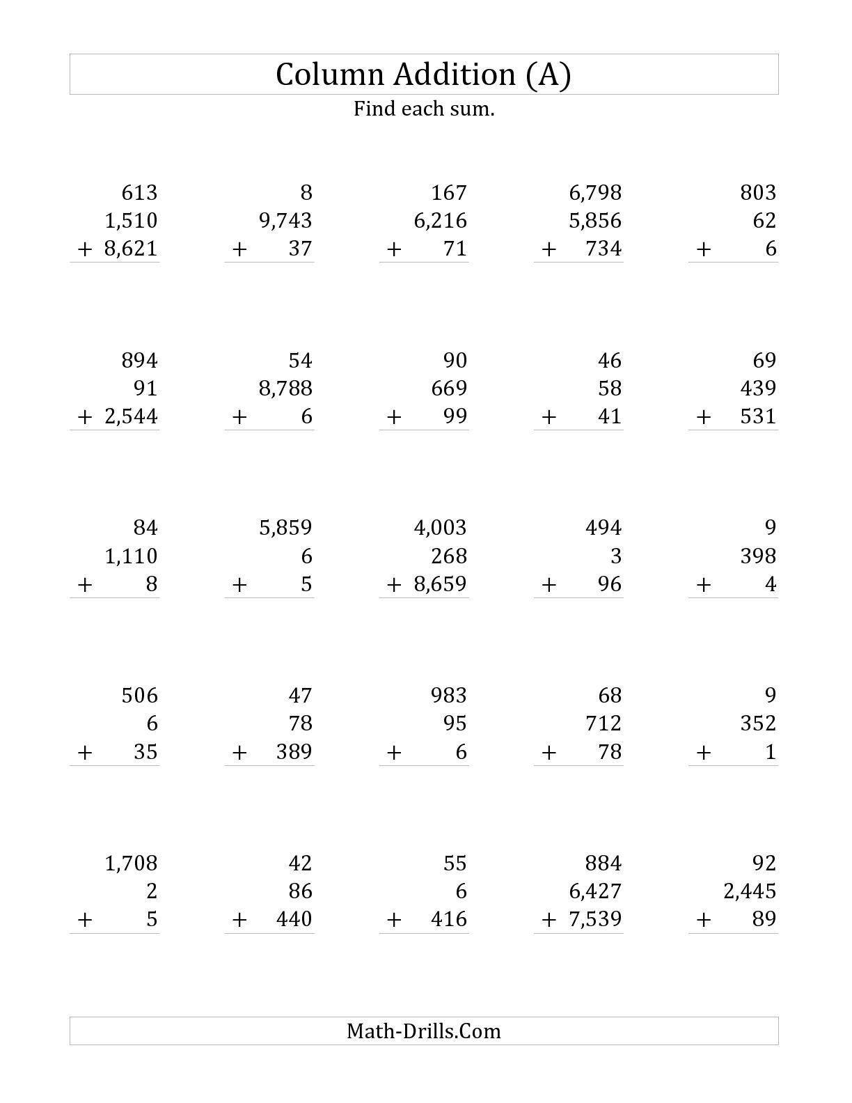 Adding Three Numbers Worksheet Worksheet Adding Three