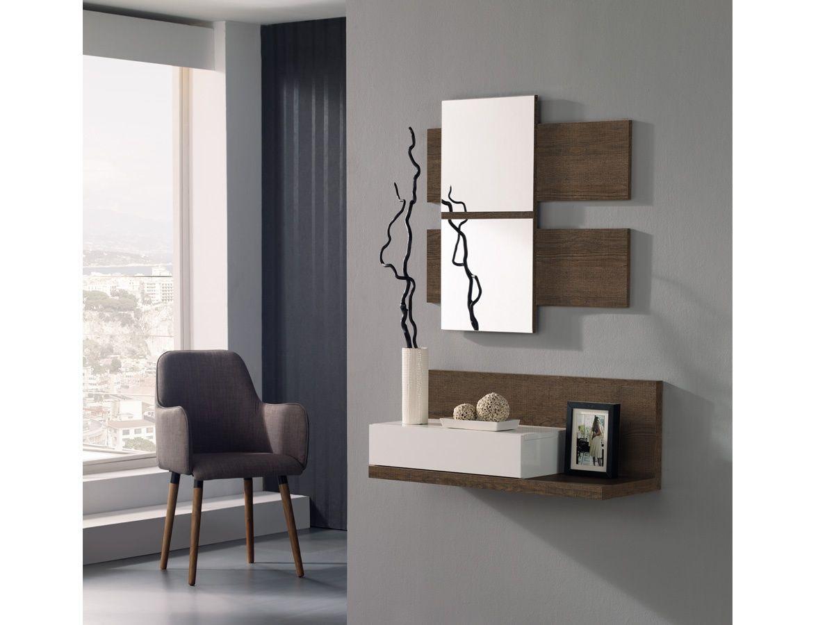 Consola con espejo para recibidor consola con espejo for Espejos modernos para recibidor