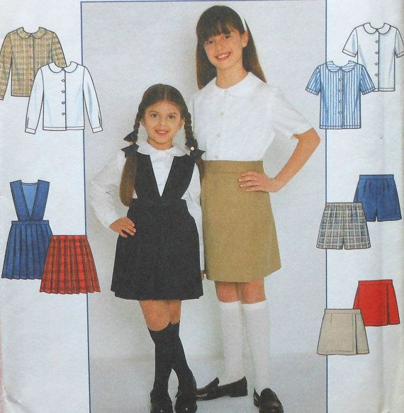 d4e62cb245 Girls Skirt Blouse and Shorts Sewing Pattern UNCUT Simplicity 7683 ...