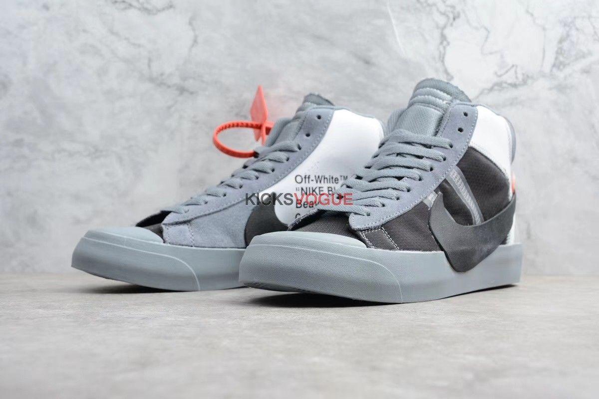 on sale 01f43 7d4c1 OFF-WHITE x Nike Blazer Studio Mid 2018 Wolf Grey - Off-White