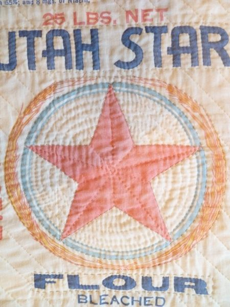 Awesome flour sack quilt and I love this Utah Star Flour design ... : flour sack quilt - Adamdwight.com