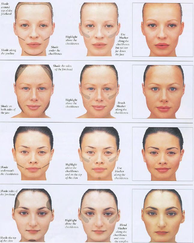 How to correct face shape with makeup Your face shape is beautiful ...