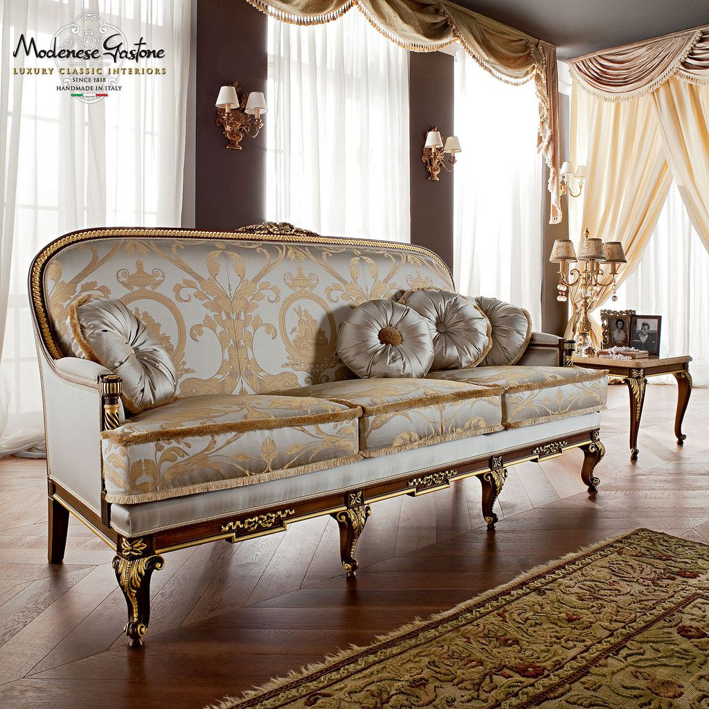 Upholstered Sofa Hardwood Structure Handmade Casanova Collection Modenese Gastone Classic Sofa Styles Classic Sofa Luxury Sofa