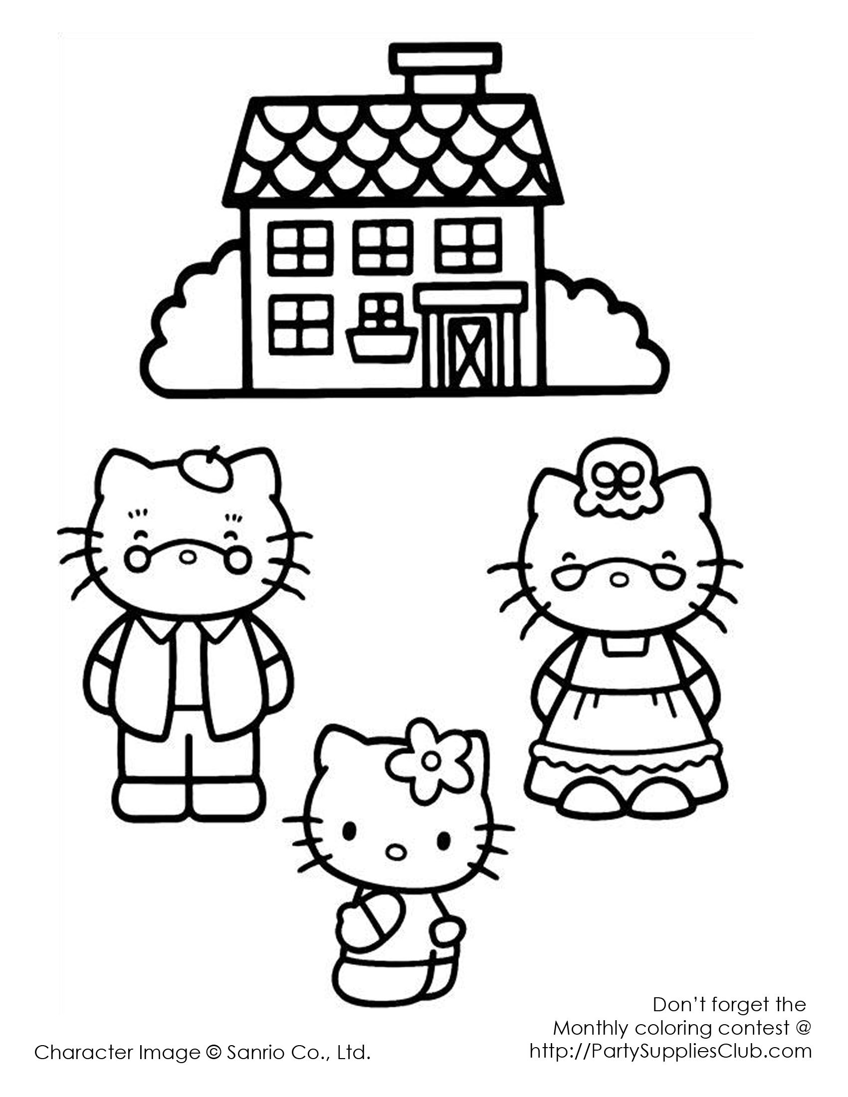 Hello Kitty Grandma And Grandpa