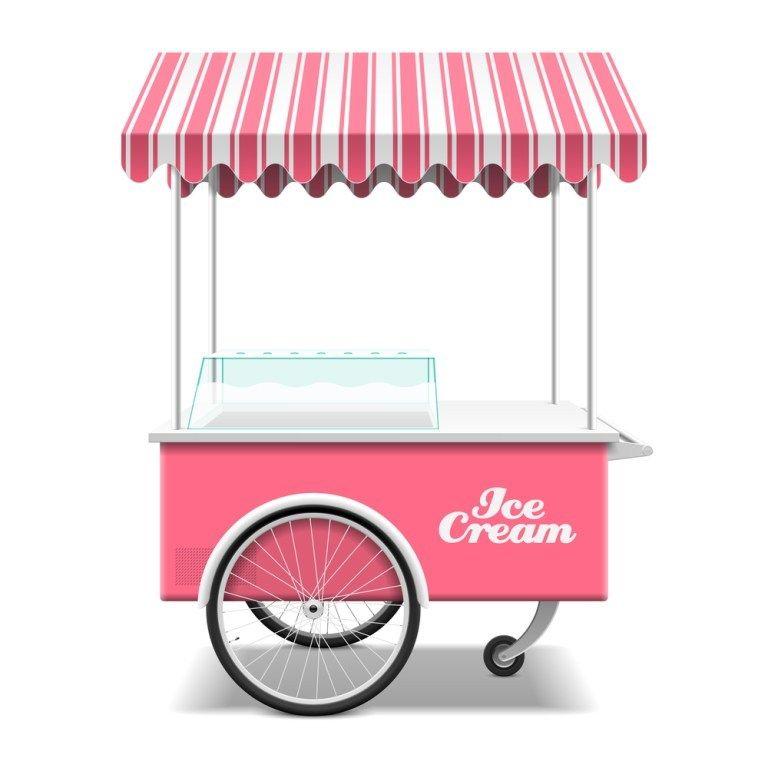 Ice Cream Cart Mockup Free Psd Ice Cream Cart Ice Cream Images Ice Cream Poster