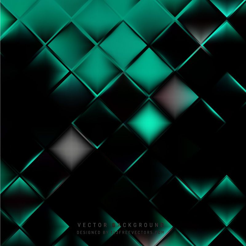 Abstract Black Green Square Background Design Geometric Graphic