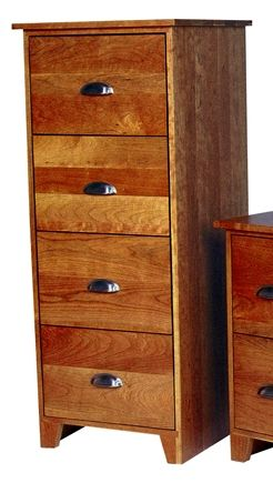 Superb 4 Drawer Vertical Filing Cabinet Made With Natural Cherry Wood With A  Shaker Base And