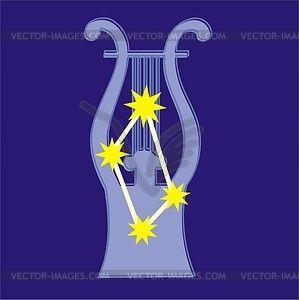 Constellation Lyra - vector clipart