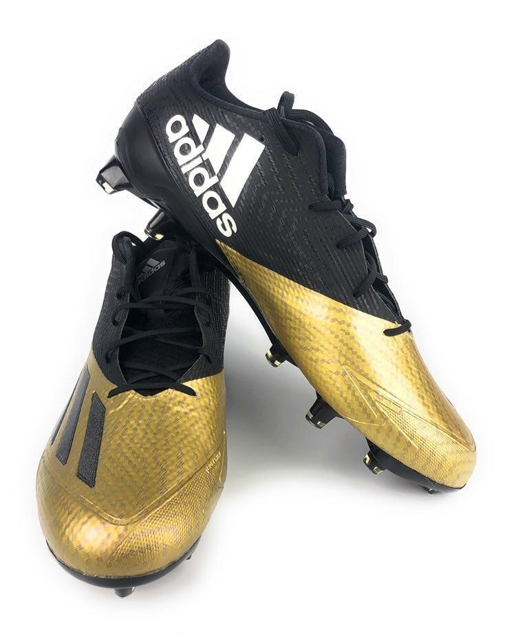 Mens adidas black and gold football cleats no box
