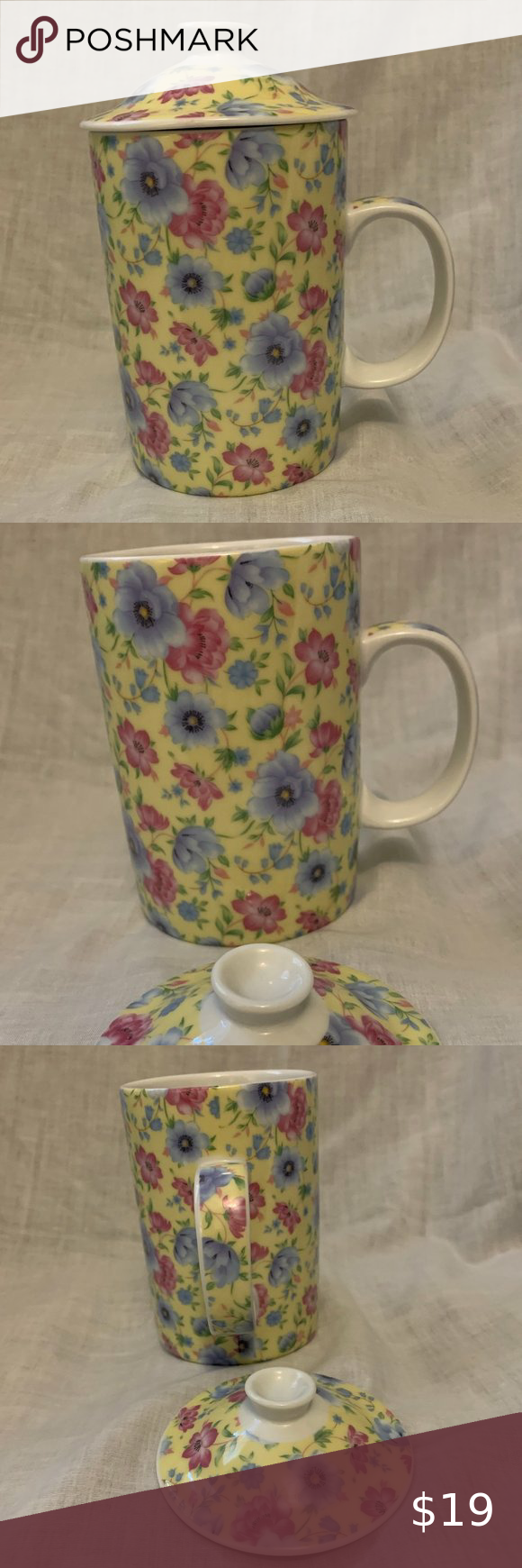World Market Vintage Tea/Coffee Cup with Lid in 2020 | Vintage tea, Coffee cups, World market
