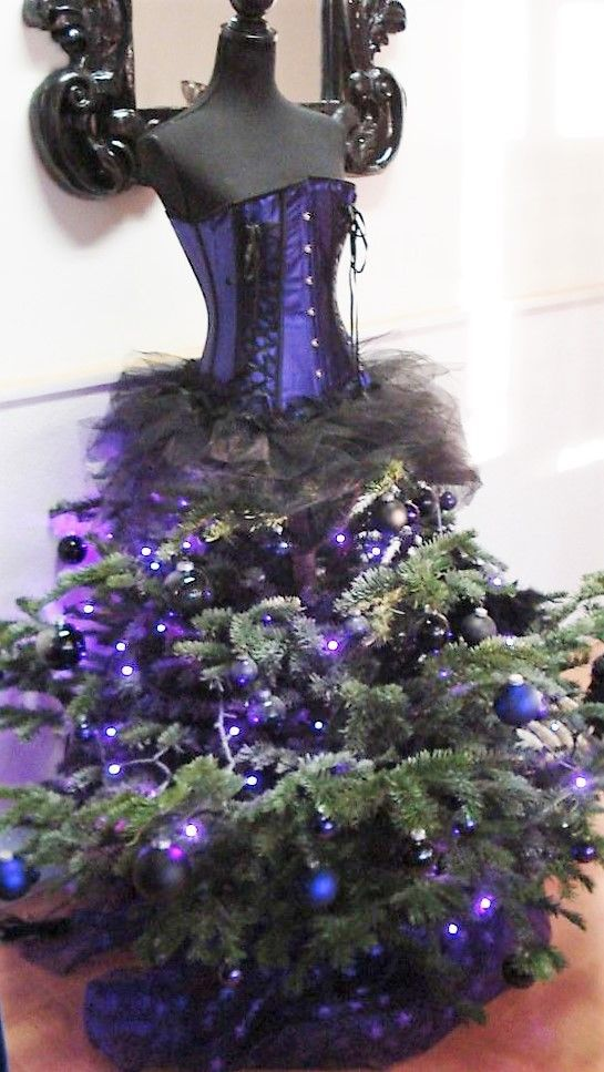 Image result for blue decorated christmas trees Christmas decor